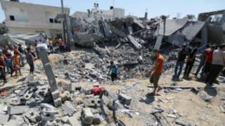 آثار الغارات الاسرائيلية