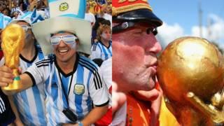 Torcedores de Argentina e Holanda durante a Copa