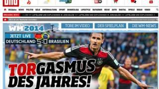 capa do site do jornal Bild (reprodução)