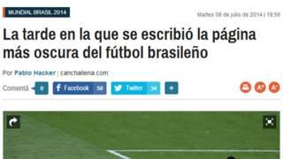 Manchete do jornal La Nación (Argentina)