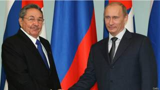 Владимир Путин и Рауль Кастро