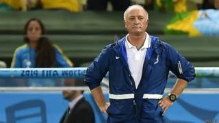 Luiz Felipe Scolari, técnico da seleção, durante a Copa