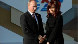 Путин и Киршнер на саммите G20 в Петербурге
