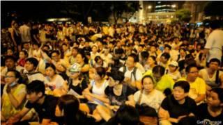 香港7月1日發生的大規模遊行示威