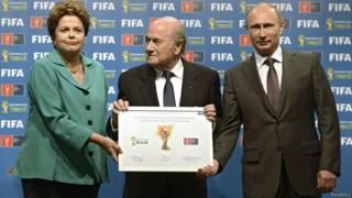 Путин, Русеф и Блаттер