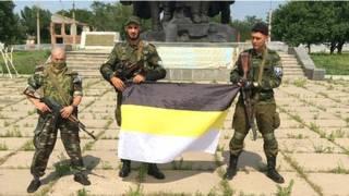 盧甘斯克親俄武裝的俄國志願兵