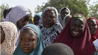 Wasu daga cikin iyayen 'yan matan Sakandaren Chibok da aka sace