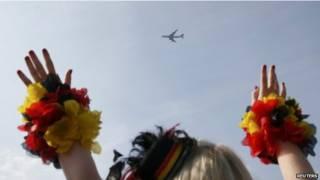 जर्मन फुटबॉल टीम का स्वागत