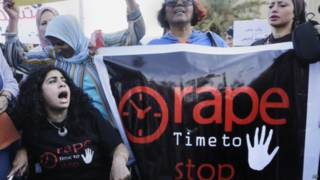 Protesto contra assédio sexual no Cairo em 14 de junho de 2014 | Foto: AP