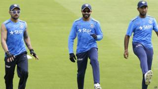 भारतीय क्रिकेटर विराट कोहली, रविंद्र जडेजा
