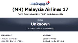 Самолет Boeing Малайзийских авиалиний