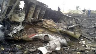 马航MH17客机在乌克兰东部坠毁现场