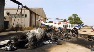 लीबिया के त्रिपोली हवाई अड्डे का दृश्य