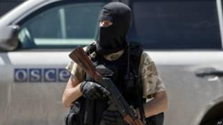 Сепаратист на востоке Украины