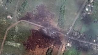 صورة لموقع الحادث من طائرة