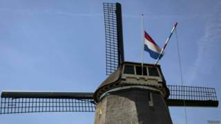 Мельница с флагом Голландии