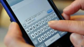 Mensagem de celular (BBC)