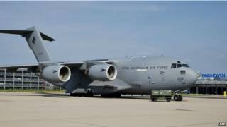 ऑस्ट्रेलियन एअर फोर्स का विमान