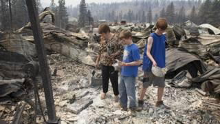 Incendio en el estado de Washington