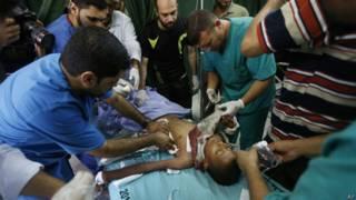Menino ferido em ataque a escola (AP)