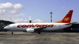 Avión de Conviasa.