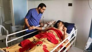 جريح في حد مستشفيات العاصمة الليبية طرابلس