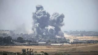Giao tranh ở Gaza hôm Chủ Nhật 27/7.