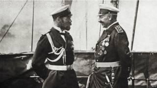 Nicolás II de Rusia y Guillermo II de Alemania