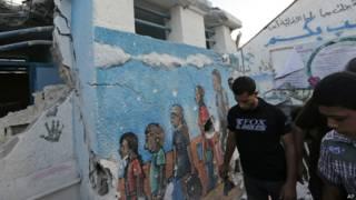 """Escuela """"Abu Hussein"""" de Naciones Unidas"""