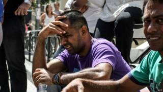 демонстрация мигрантов
