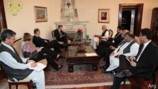 حامد کرزی در ملاقات با فرستاده جدید آمریکا به افغانستان و پاکستان