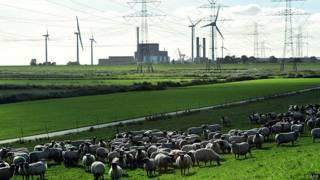 Planta de energía nuclear de Brunsbuettel, norte de Alemania