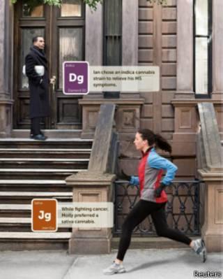 Anúncio da empresa Leafly no jornal The New York Times (Reuters)
