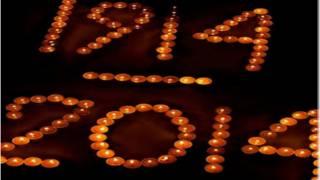 استخدام الشموع لاحياء ذكرى مرور 100 عام على الحرب العالمية الأولى