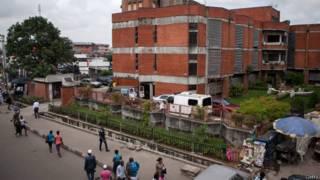 Hôpital de Lagos au Nigeria où a été hospitalisé le premier malade du virus Ebola dans le pays