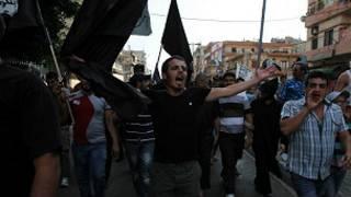 مظاهرات في طرابلس في لبنان