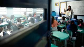 Sala de aula no Rio de Janeiro