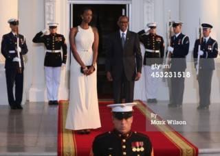 Kagame n'umukobwa we muri White House