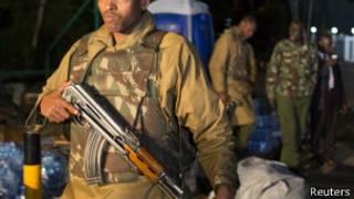 Abapolisi ba Kenya igihe c'igitero ca Al Shabaab i Nairobi