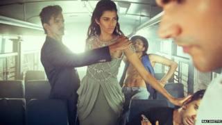Фотосессия в автобусе
