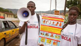 Campanha de prevenção em Freetown, em Serra Leoa