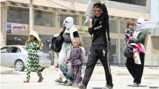 Refugiados yazidíes