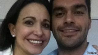 Maria Corina Machado y Felipe Cuevas