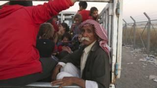 Refugiados iraquianos (AP)