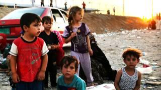 इराक़, शरणार्थी बच्चे