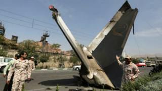 အီရန်မှာခရီးသည်တင် လေယာဉ်ပျက်ကျ