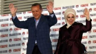اردوغان وزوجته
