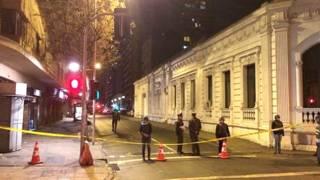 La policía cerró la calle tras la explosión