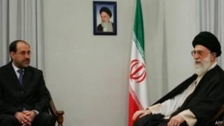 مرشد إيران على خامنئي في لقاء مع المالكي