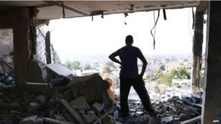 Casas destruidas en Gaza